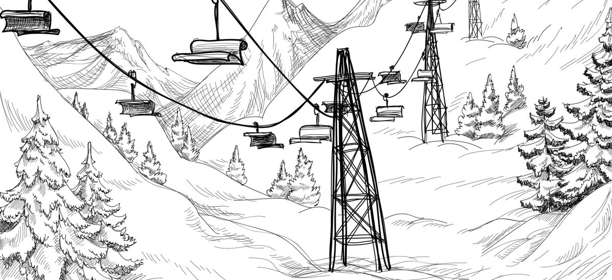 11133478 - ski lift sketch