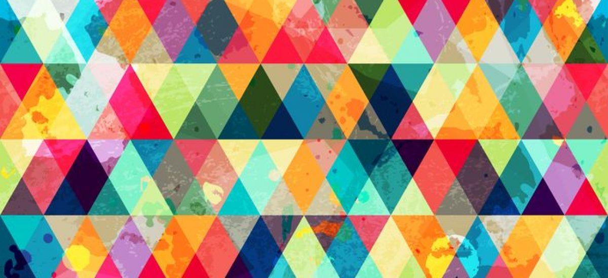 21505077 - grunge colored triangle seamless pattern